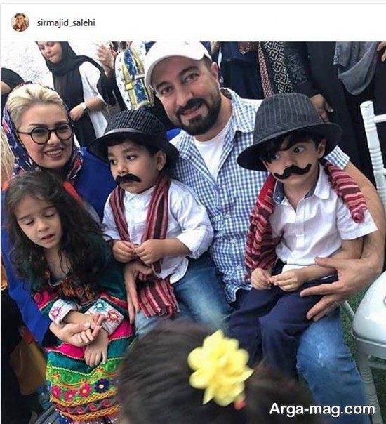 مجید صالحی و خانواده اش