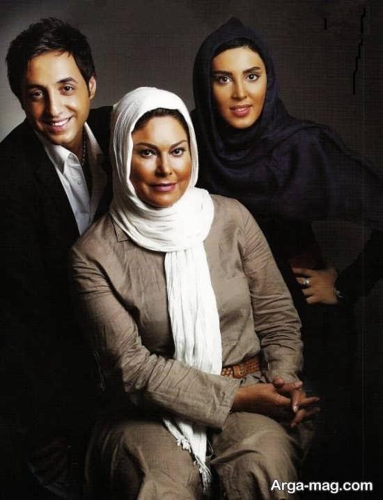 مهرانه مهین ترابی در کنار دو بازیگر