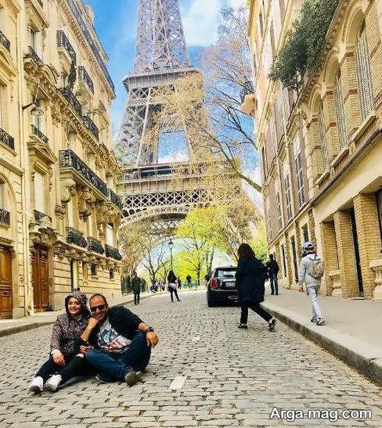 عکس-نرگس-محمدی-و-همسرش-در-پاریس