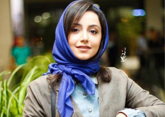 حضور نازنین بیاتی در باغ کتاب تهران برای تماشای فیلم خاله قورباغه