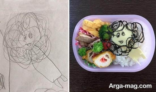 تزیین کودکانه غذا
