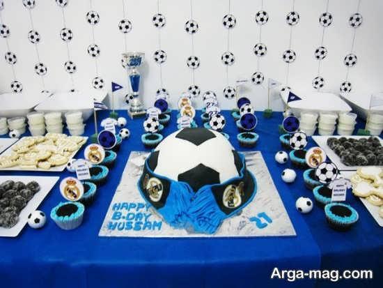 میز تولد زیبا با تم رئال مادرید