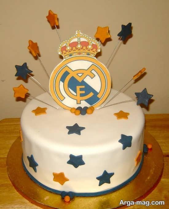 تزیین کیک با تم رئال مادرید