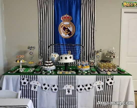 تزیین عالی میز با تم تولد رئال مادرید