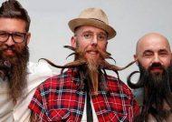 تصاویری از ریش و سیبیل های عجیب در پاریس
