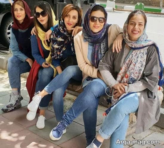 سحر دولتشاهی در کنار بازیگران