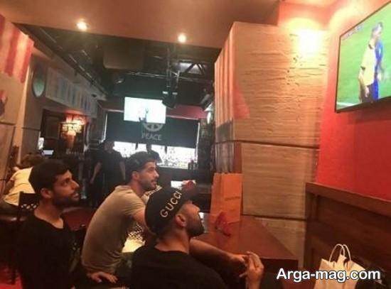سامان قدوسی در رستوران