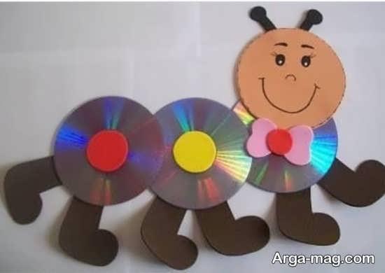 ساخت کاردستی کرم ابریشم با سی دی