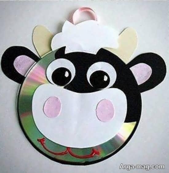 ساخت کاردستی گاو بامزه با سی دی