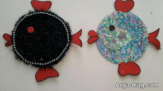 آموزش کاردستی ماهی با سی دی