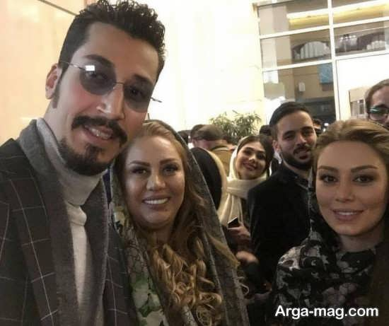 بهرام افشاری به همراه بازیگر مشهور زن سینما