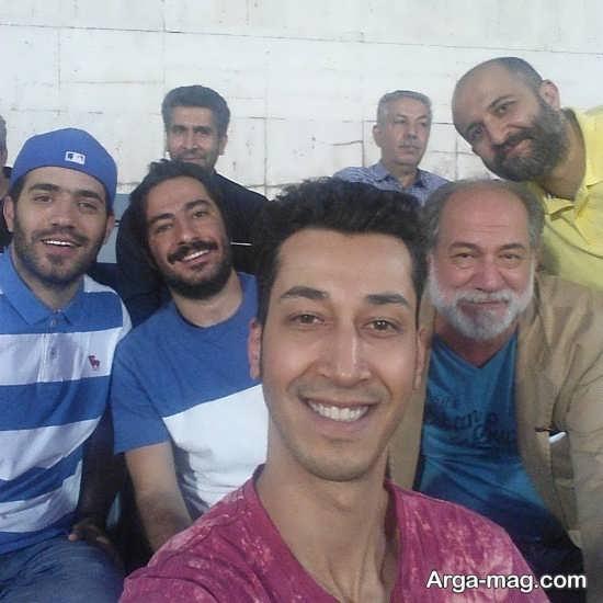 بهرام افشاری در ورزشگاه آزادی