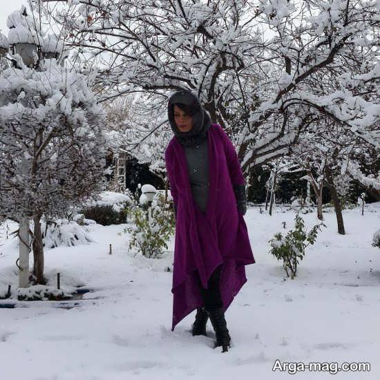 عکس های عاطفه رضوی در برف