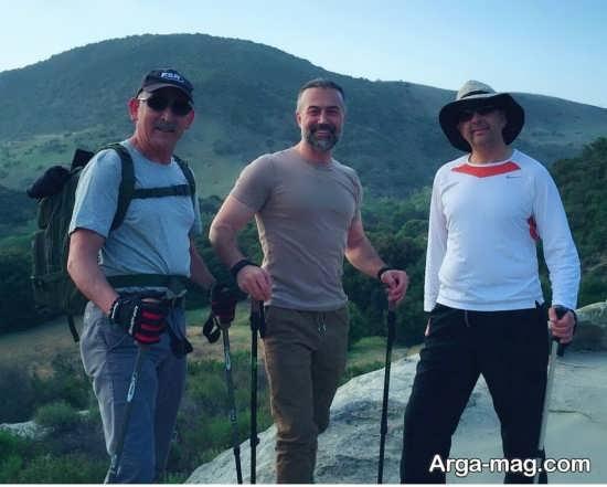 عکس متفاوت دانیال حکیمی در حال کوهنوردی