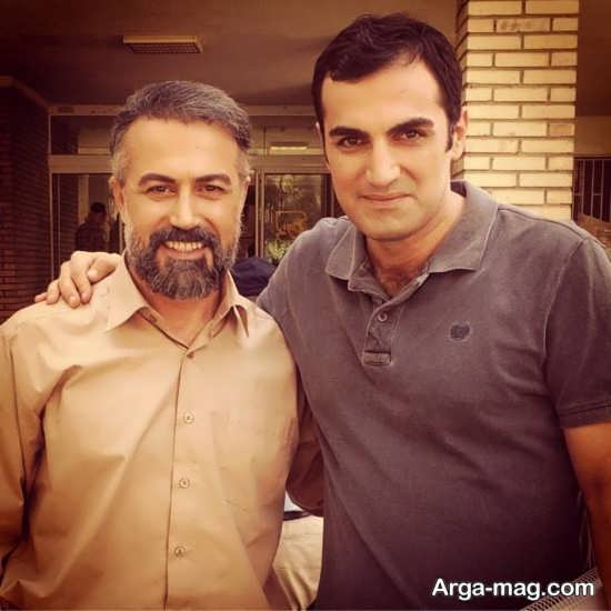 دانیال حکیمی در کنار بازیگر و مجری تلویزیون