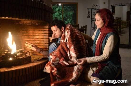 دیبا زاهدی در کنار بازیگر فیلم سایه