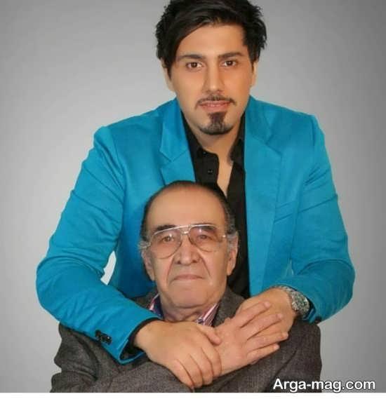 عکس های زیبای احسان خواجه امیری و پدرش