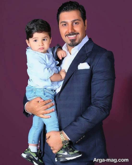 عکس های احسان خواجه امیری و پسرش