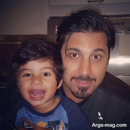 عکس های جالب احسان خواجه امیری و پسرش