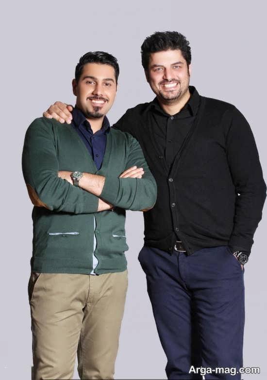 احسان خواجه امیری در کنار بازیگر تلویزیون