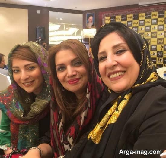 الهام پاوه نژاد در کنار بازیگر طناز تلویزیون