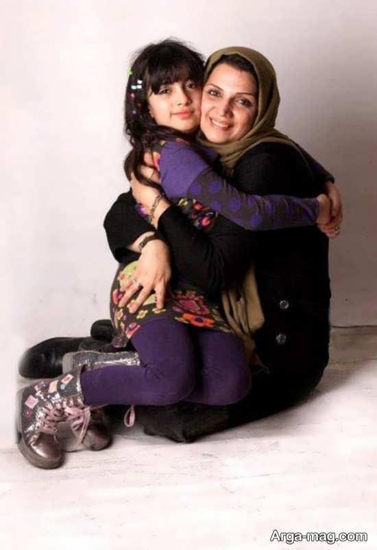 الهام پاوه نژاد و دختر زیبایش کردیا