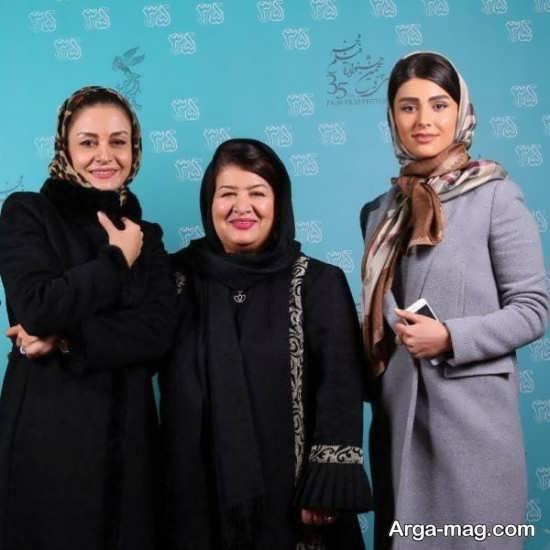 عکس لاله مرزبان در کنار کارگردان و بازیگر زن سینما