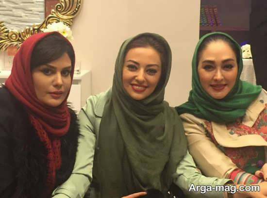 رز رضوی در کنار بازیگران زن