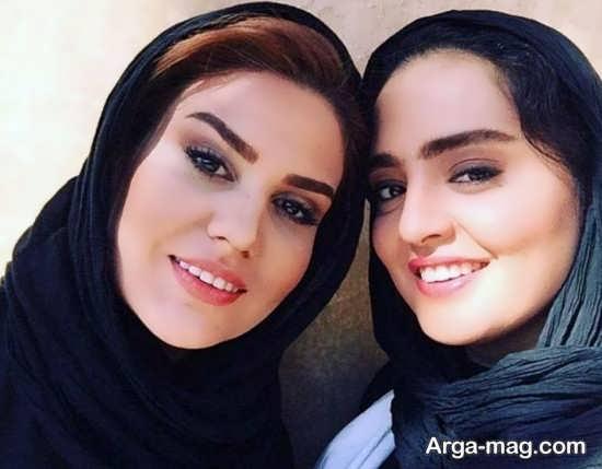 عکس دو نفره رز رضوی و نرگس محمدی