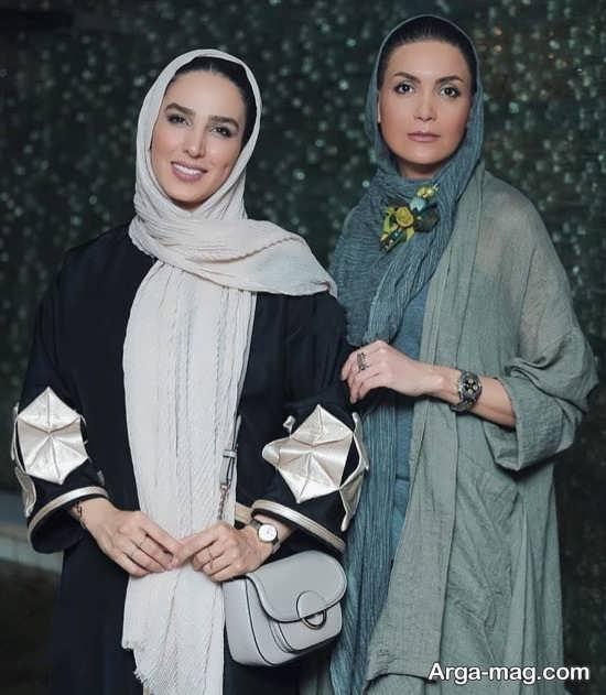 سامیه لک در کنار سوگل طهماسبی