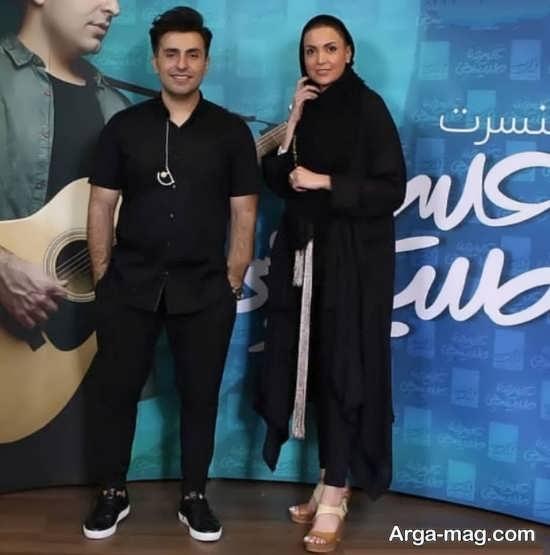 سامیه لک در کنسرت خواننده معروف