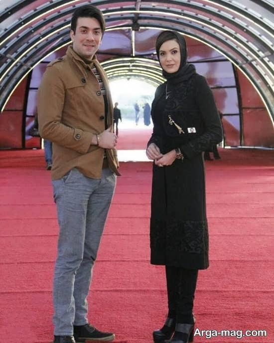 سامیه لک در کنار همسرش در جشنواره