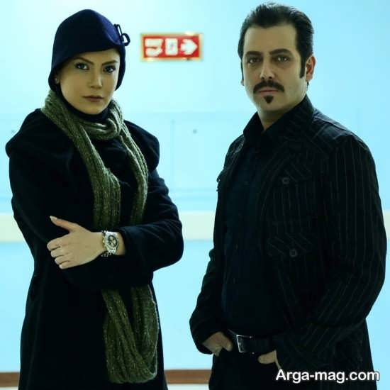 سامیه لک و همبازیش در سریال آنام