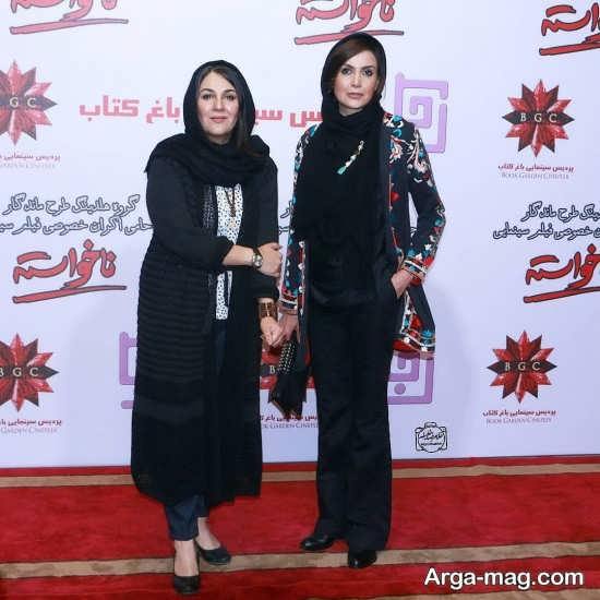 سامیه لک در کنار بازیگر زن