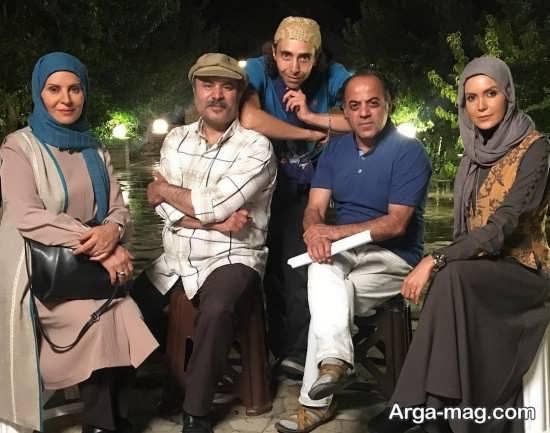 عکس سامیه لک در کنار هنرمندان سریال آنام