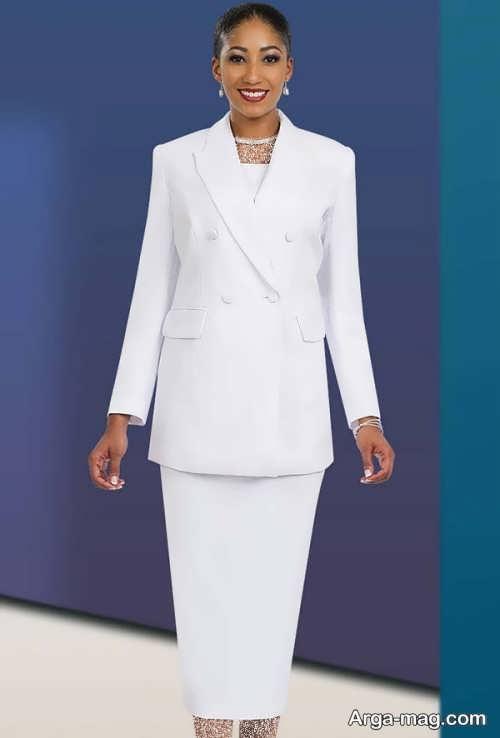 مدل کت و دامن سفید
