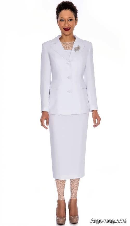 مدل کت دامن سفید