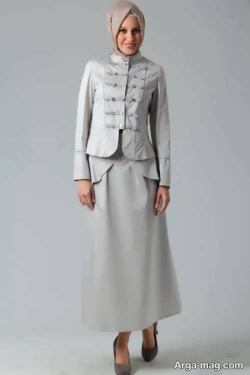 مدل کت و دامن بلند و زیبا