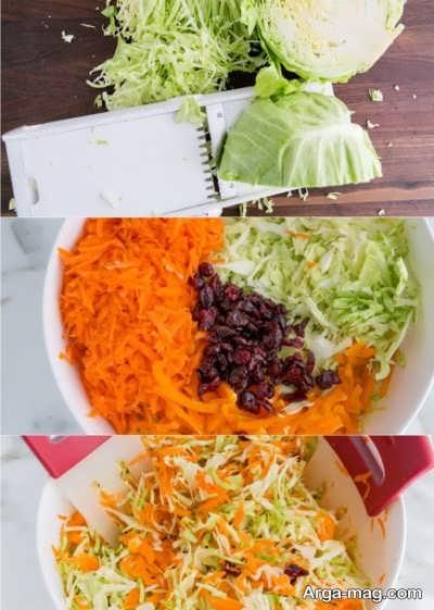 مراحل تهیه سالاد هویج