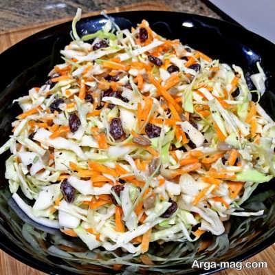 سالاد هویج و کلم سفید