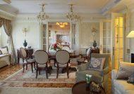 اتاق پذیرایی با معماری کلاسیک