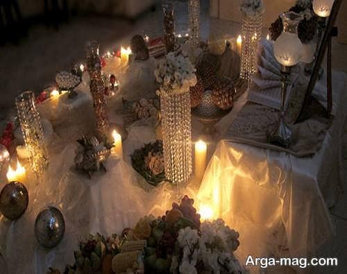 تزیین سفره عقد با شمع