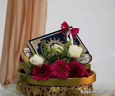 تزیین شیک قرآن عروس با گل