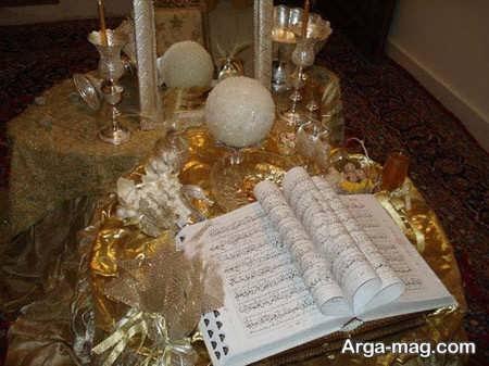 تزیین ساده و زیبا قرآن عروس