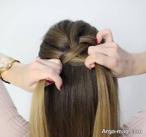 آموزش مرحله به مرحله بافت موی هلندی