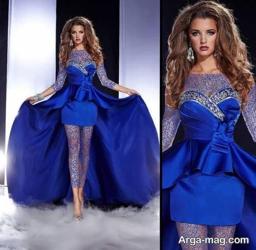 مدل های آرایش صورت با لباس آبی