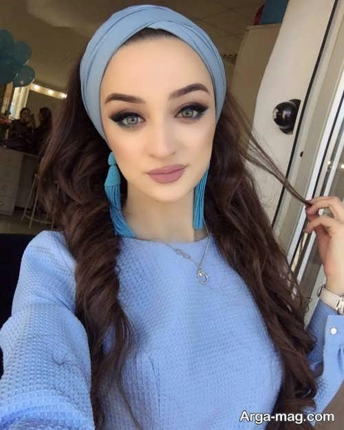 مدل آریش صورت دخترانه با لباس آبی