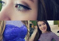 آرایش صورت با لباس آبی