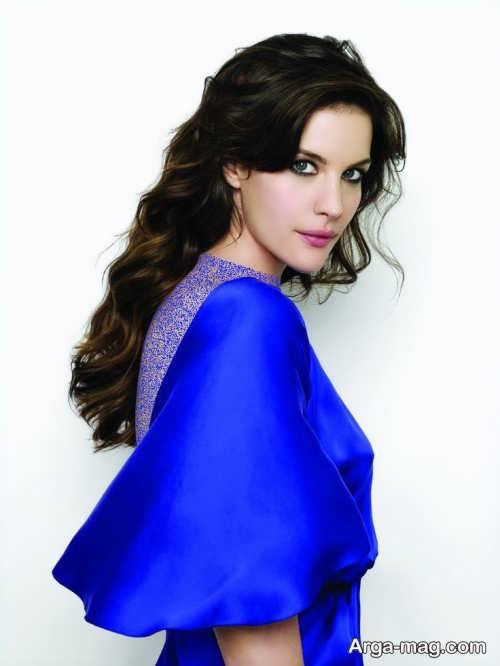 مدل آرایش صورت با لباس آبی