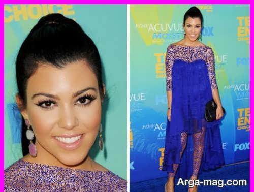 آرایش صورت با لباس آبی با جدیدترنی متدها